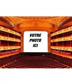 Collage avec une scène de théâtre