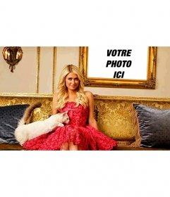 Effets photo à venir dans une boîte à côté de Paris Hilton