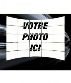Télécharger une photo et apparaît comme un collage de 20 images. noir avec des sentiers fond blanc. Pour enregistrer ou envoyer un courriel