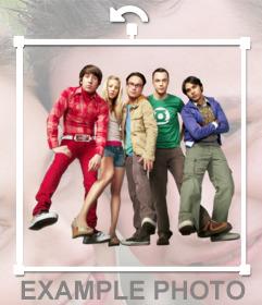 Les caractères Big Bang Theory posent pour vos photos avec cet autocollant