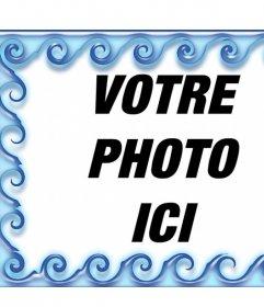 Entourez vos photos avec lédition de leau cet effet photo en ligne cadre