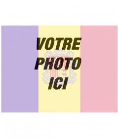 Drapeau Andorre comme un filtre pour votre photo de profil pour