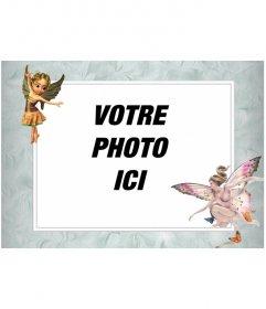 Cadre photo avec des images de fées ailées que mettre une photo en ligne
