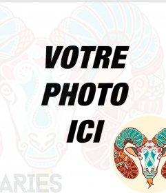 Symbole de Bélier pour vos photos de profil. Xxx montage en ligne pour vos photos avec le bélier du Bélier, coloré et fantastique. Envoyez vos photos à partager avec le symbole