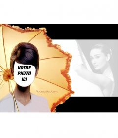"""Photomontage d""""Audrey Hepburn dans une célèbre image de lui"""