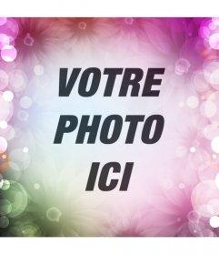 Créer un réseaux sociale avatar en ligne avec fleurs et des lumières colorées sur votre dimage de profil et montrer off votre conception