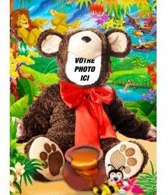 Costume virtuel dun bébé ours à faire avec une photo gratuitement