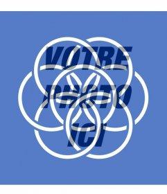 Drapeau de la Terre symbolisant la paix et lunité du peuple de mettre dans votre photo de profil