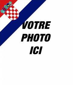 Effet de drapeau Croatie dans un coin de vos photos pour