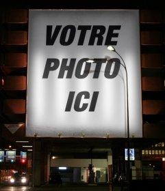 Photomontage de mettre votre photo sur une affiche que vous pouvez faire en ligne