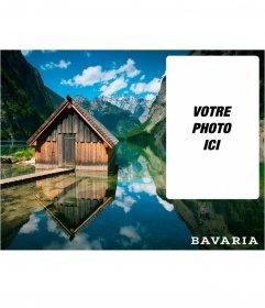 Bavière carte postale avec une image dun