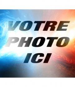 Filtre de lumière bleue ligne rouge et de modifier votre photo
