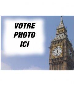 """Photomontage de faire une carte postale avec le Big Ben à Londres, personnalisé avec votre photo. finition professionnelle et l""""édition facile via cette page"""