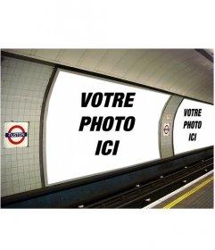 Photomontage de mettre les deux photos que vous souhaitez en quelques annonces dans le métro