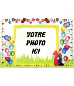 """Carte d""""anniversaire avec des bords ballons"""