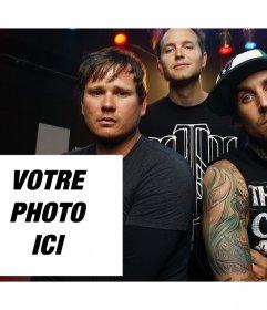 Effet photo pour éditer des Blink 182 bande et vous pouvez limprimer