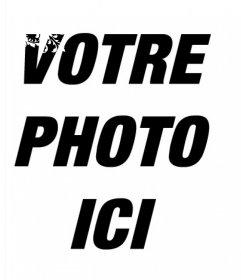 Bord pour des photos avec des ornements floraux blancs et leffet en ligne