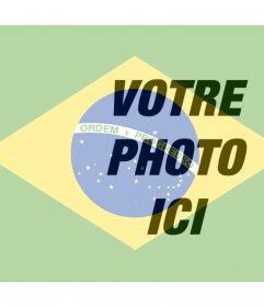 Mettez le drapeau brésilien à côté de votre photo en ligne