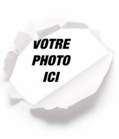 Placez votre photo derrière un idéal pour le papier photo de profil déchiré