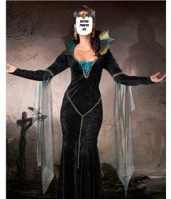 Photomontage pour mettre votre visage dans le corps dune sorcière