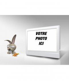 TV Photo Frame et le lapin. Personnalisez-le avec votre photo!