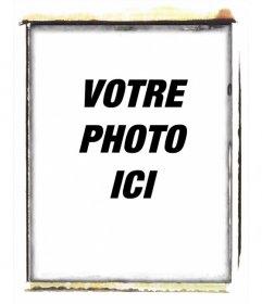 """Le style cadre photo Polaroid effet brûlé. Pour mettre votre image à l""""intérieur"""