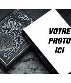 Mettez votre photo sur un jeu de cartes sombres