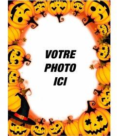 Cadres photo avec citrouilles d'Halloween