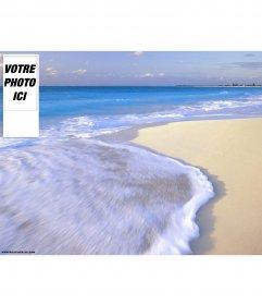 Fond de plage pour twitter. Pour le personnaliser avec votre photo