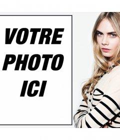 Téléchargez votre photo avec le modèle Cara Delevigne avec cet effet libre