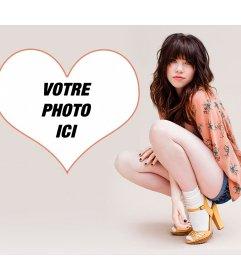 Photomontage avec Carly Rae et votre image dans un cœur
