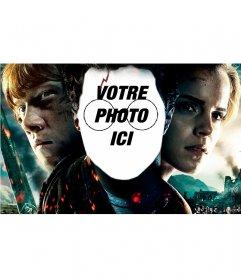 Photomontage avec le visage de Harry Potter