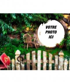 Photomontage avec la maison de Bilbon Sacquet