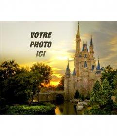 Photomontage de mettre votre photo avec un château de conte de fées