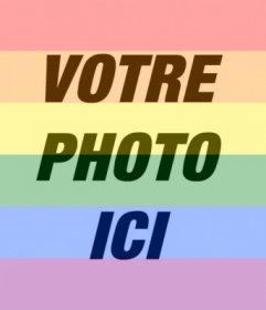 Mettez le drapeau de la gay pride arcoriris sur votre photo en ligne