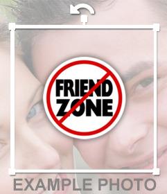 Autocollant de Friend Zone avec le symbole Stop pour ajouter sur vos photos