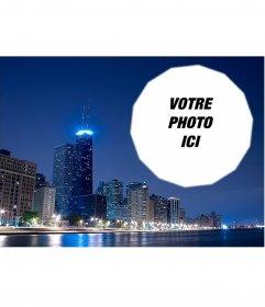 Carte postale avec une photo de Chicago