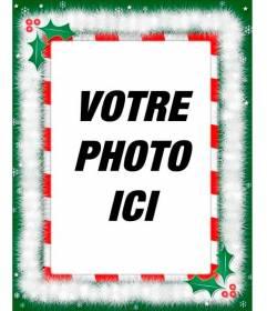 Cadre photo avec des décorations de Noël, félicitations spéciales par courriel