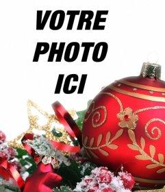 Décorez vos photos en ligne avec une énorme boule rouge