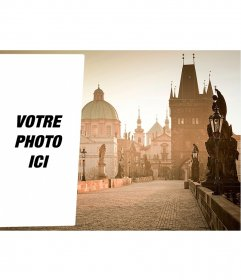 Carte postale de mettre votre image en une image Prague