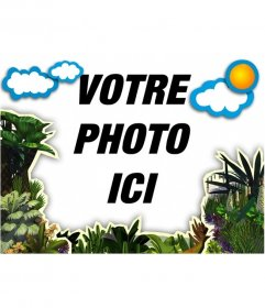 Photos de cadre de végétation et les nuages pour décorer vos photos