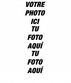 Créer un collage avec 3 photos horizontalement et un cadre blanc mince
