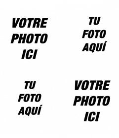 Faire un collage avec 4 photos en ligne