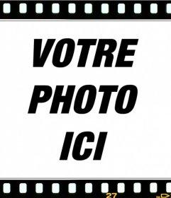Mettez votre photo dans un cadre de film en ligne