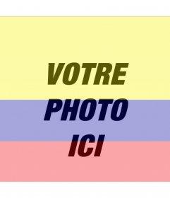 Photomontage avec limage du drapeau de la Colombie et la photo