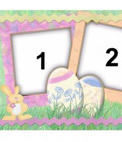 Collage pour célébrer Pâques avec vos photos décorées