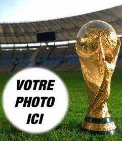 Photomontage avec la coupe du monde de mettre une photo en forme de boule
