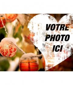 Coeur de Noël de mettre la photo de couverture sur Facebook