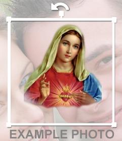 Autocollant en ligne de la Vierge Marie à mettre dans votre photo