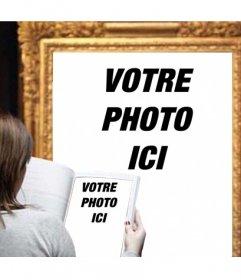 Photomontage de mettre une photo de vous à limage dun musée